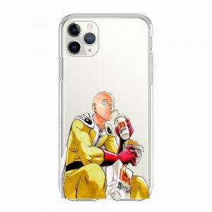 Coque One Punch Man iPhone Saitama Fast Food Iphone 5 S SE Official Dr. Stone Merch