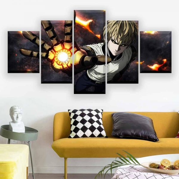 Tableau One Punch Man Genos Explosion L Official Dr. Stone Merch
