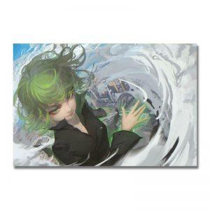 Poster Toile One Punch Man Senritsu No Tatsumaki Fan Art 30x45cm Canvas Official Dr. Stone Merch