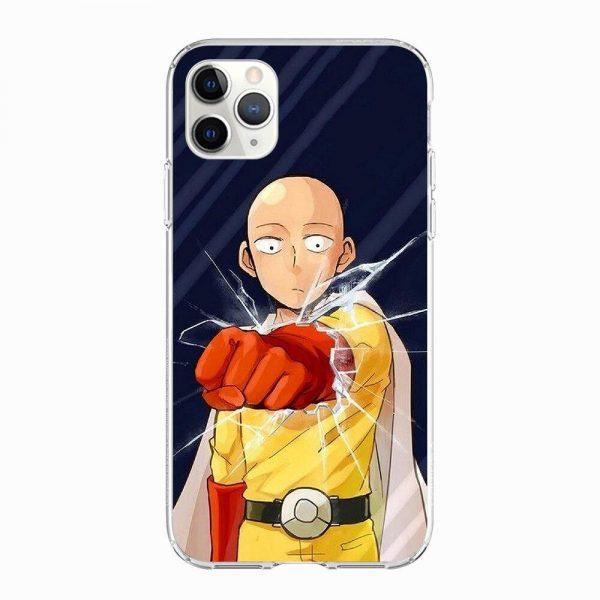 Coque One Punch Man iPhone Saitama Casse Vitre Iphone 5 S SE Official Dr. Stone Merch