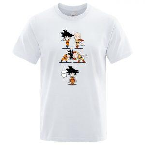 T-Shirt One Punch Man Fusion Saitama Goku S Official Dr. Stone Merch
