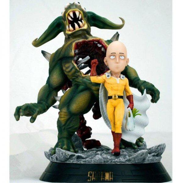 Figurine Collector Saitama Explosion monstre (28cm) Figurine + Boîte + 2 Visages Official Dr. Stone Merch