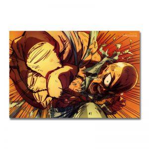 Poster Toile One Punch Man Saitama Enragé 30x45cm Official Dr. Stone Merch