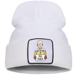 Bonnet One Punch Man Saitama Coup de poing gratuit Blanc Official Dr. Stone Merch