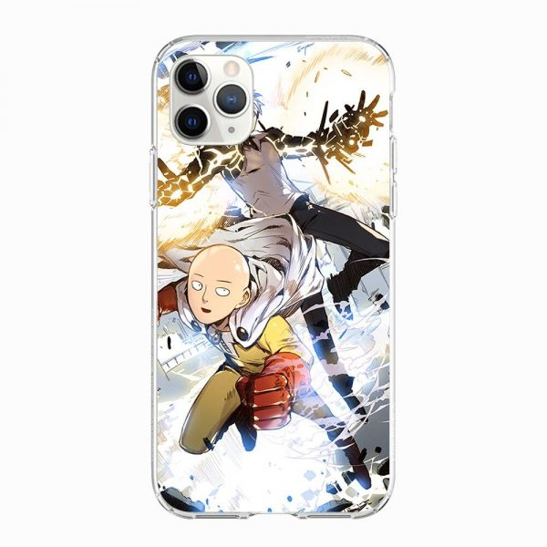 Coque iPhone Saitama x Genos Iphone 5 S SE Official Dr. Stone Merch