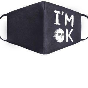 Masque Anti-Covid One Punch Man Saitama i'm ok Lavable Official Dr. Stone Merch