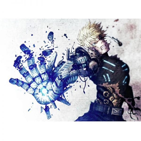 Poster One Punch Man Genos Autodestruction 40x50 cm Official Dr. Stone Merch