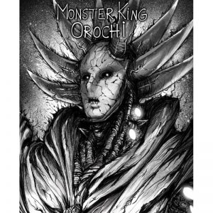Poster Toile One Punch Man Roi des Monstres Orochi 40x50cm Official Dr. Stone Merch