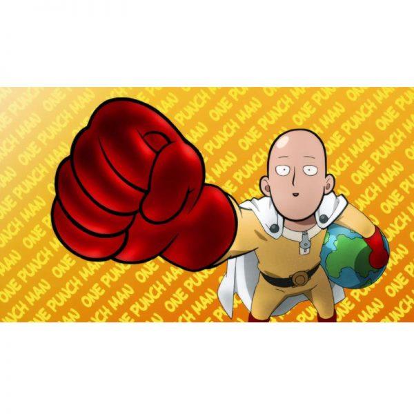 Poster One Punch Man Saitama Globe 40x50 cm Official Dr. Stone Merch