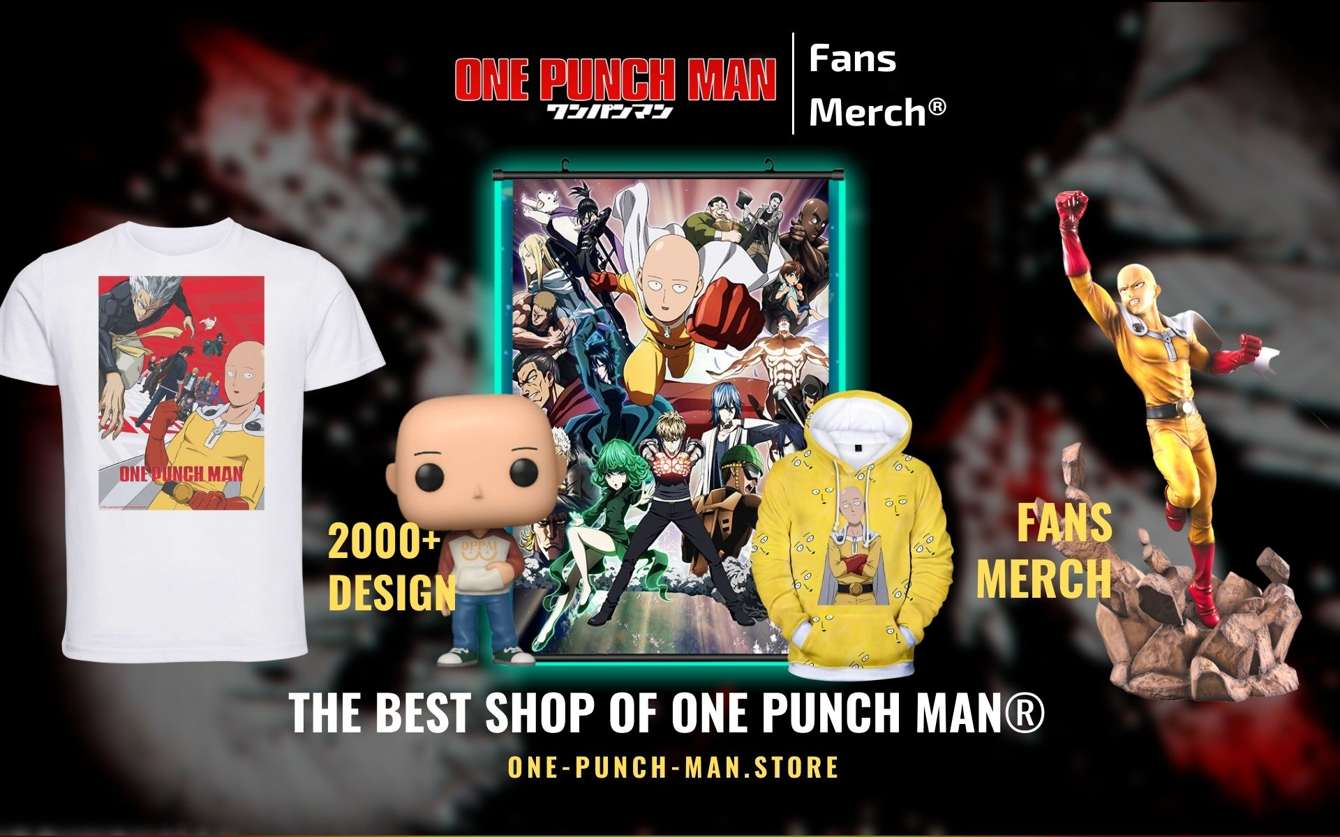 One Punch Man Merch Web Banner - One Punch Man Store