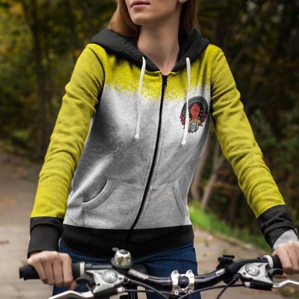 hero association unisex zipped hoodie 688716 - One Punch Man Store
