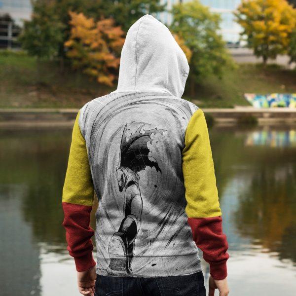 saitama unisex zipped hoodie 798524 - One Punch Man Store