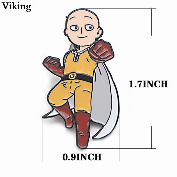 1Pcs Anime ONE PUNCH MAN Badges Cool Pins Metal Brooches Cartoon Pin For Kids Women Men 1 - One Punch Man Store