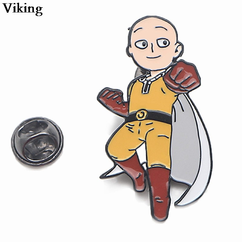 1Pcs Anime ONE PUNCH MAN Badges Cool Pins Metal Brooches Cartoon Pin For Kids Women Men Enamel Brooches For Backpacks Hat G0437