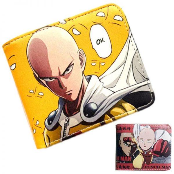 Anime ONE PUNCH MAN Saitama Wallet Young Men and Women Short Wallets Fashion PU Purse Cute - One Punch Man Store