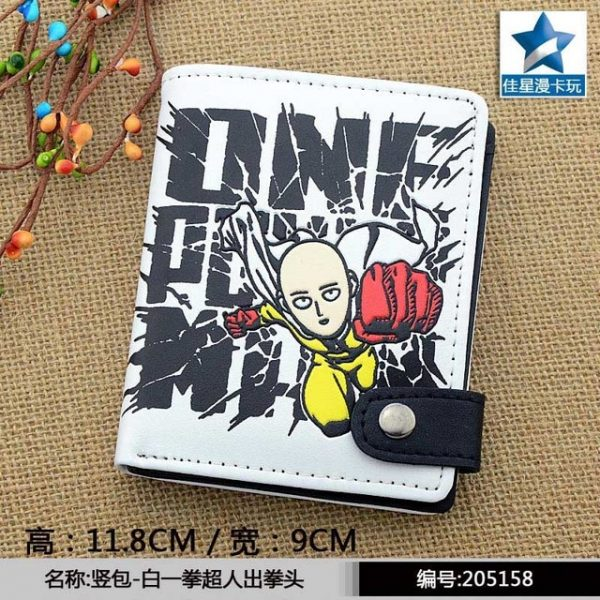 Anime One Punch Man PU White Zero Wallet Coin Purse with Interior Zipper Pocket 1.jpg 640x640 1 - One Punch Man Store