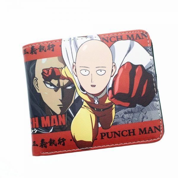 Anime One Punch Man Saitama Wallet Leather Short Photo Card Holder Layers PU Boys Girls Zip 5 - One Punch Man Store